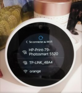 Wifi sur Amazon Echo Spot
