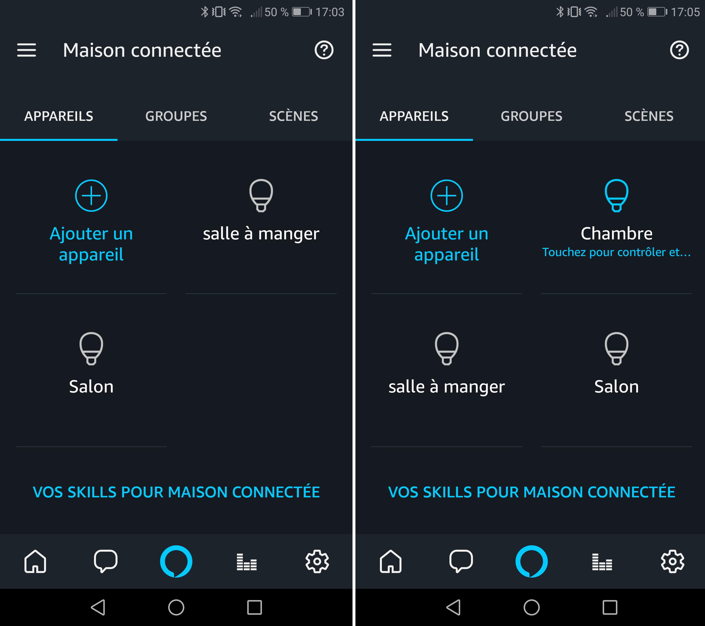 Amazon Alexa et ampoule Smart Life
