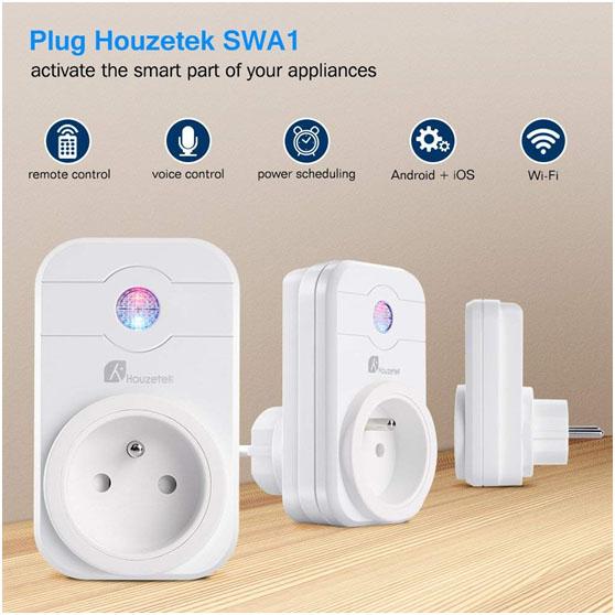 Prise connectée Wi-Fi Houzetek SWA1