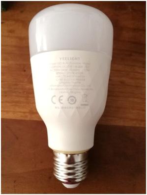 Test ampoule Xiaomi Yeelight A60