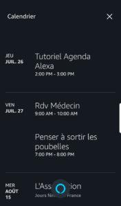 Tutoriel agenda Amazon Alexa