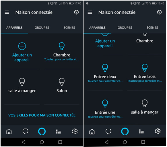 Tutoriel groupe d'ampoules sur l'application Alexa 2