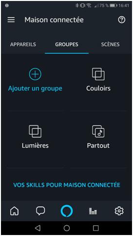 Tutoriel partie 4 sur les groupes d'ampoules sur l'application Alexa 2