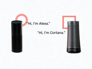 Collaboaration Amazon Microsoft sur Cortana et Alexa avec les enceintes Echo et Harman Kardon