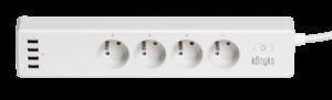 La Konyks Polyco est une multiprise connectée compatible avec l'assistante vocale Amazon Alexa