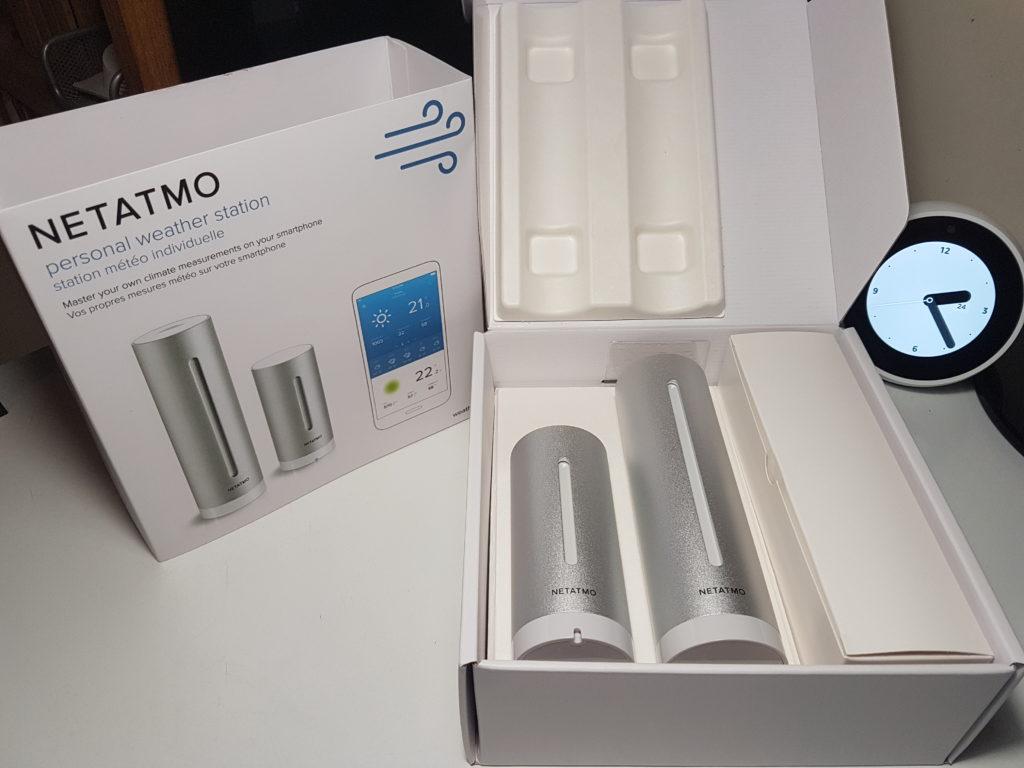 test et avis de la station météo Netatmo avec Amazon Alexa