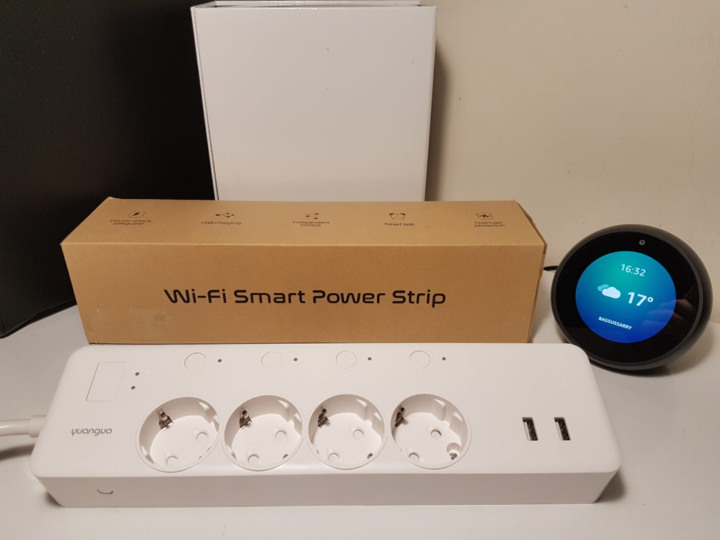 Test multiprise Yuanguo parasurtension et parafoudre avec Amazon Alexa et Smart Life