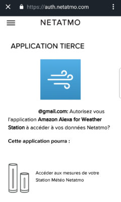 Skill Alexa pour la station météo Netatmo