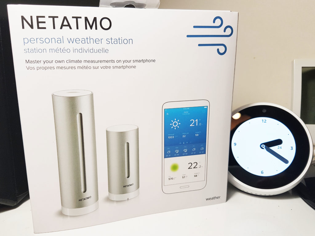 Unboxing de la station Netatmo et test avec Amazon Alexa