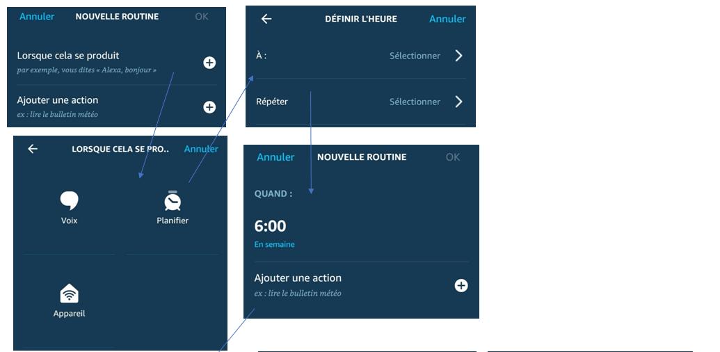 Créer une routine de réveil avec Alexa sur Echo d'Amazon part 1