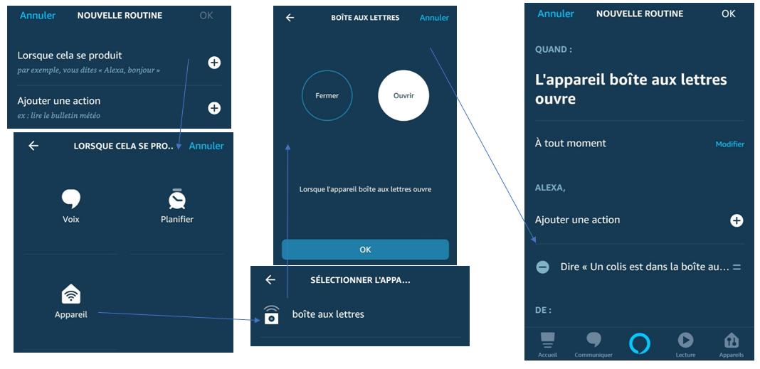 Tuto pour creer une routine avec Amazon Alexa sur Amazon Echo