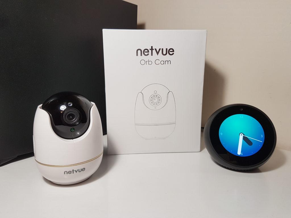 Test et avis de la caméra IP Netvue Orb Cam compatible Amazon Alexa