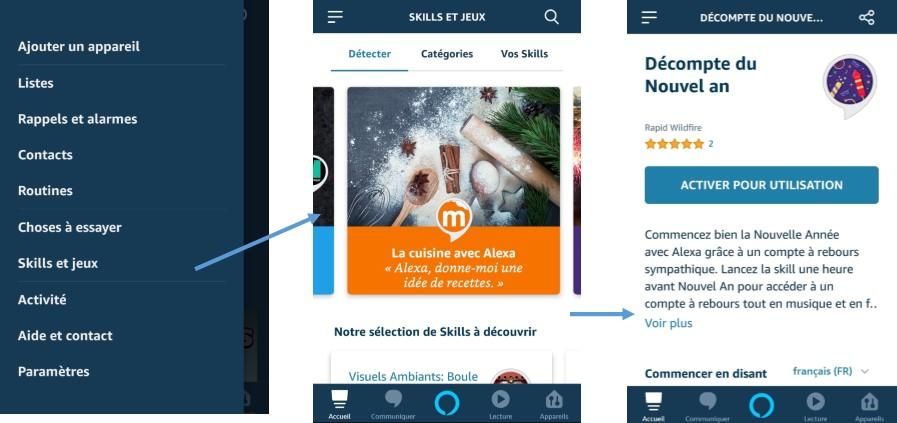 Activer et installer des skills pour Alexa et Amazon Echo
