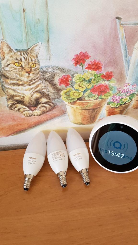 Test avis prix interrupteur ampoule flamme E14 Philips Hue