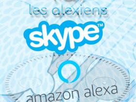 Appels téléphones mobiles et fixes avec Alexa et Amazon Echo : visio avec Skype