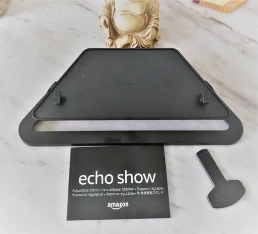Vue de dessous des accessoires Echo Show 2