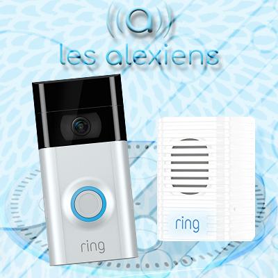 Sonnette connectée compatible Alexa et Amazon Echo