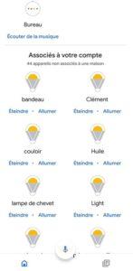 Ampoules et prises connectées Smart Life dans Google Assistant