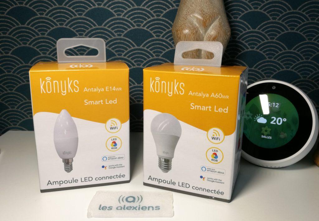 Konyks Antalya : test avis et prix des ampoules connectées E14 et A60