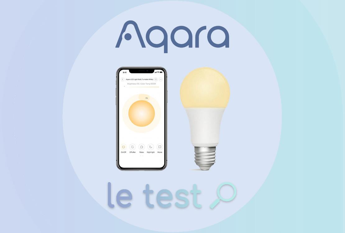Ampoule Aqara Zigbee : test, avis et prix
