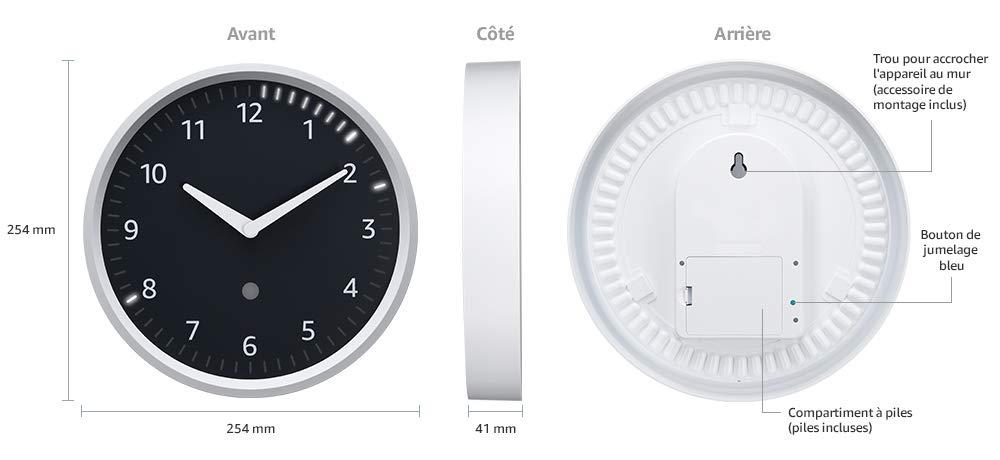 Echo Clock : la pendule horloge Alexa Echo