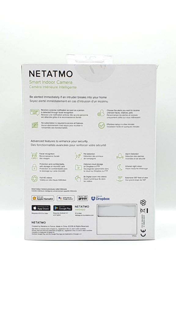Avis Netatmo Welcome