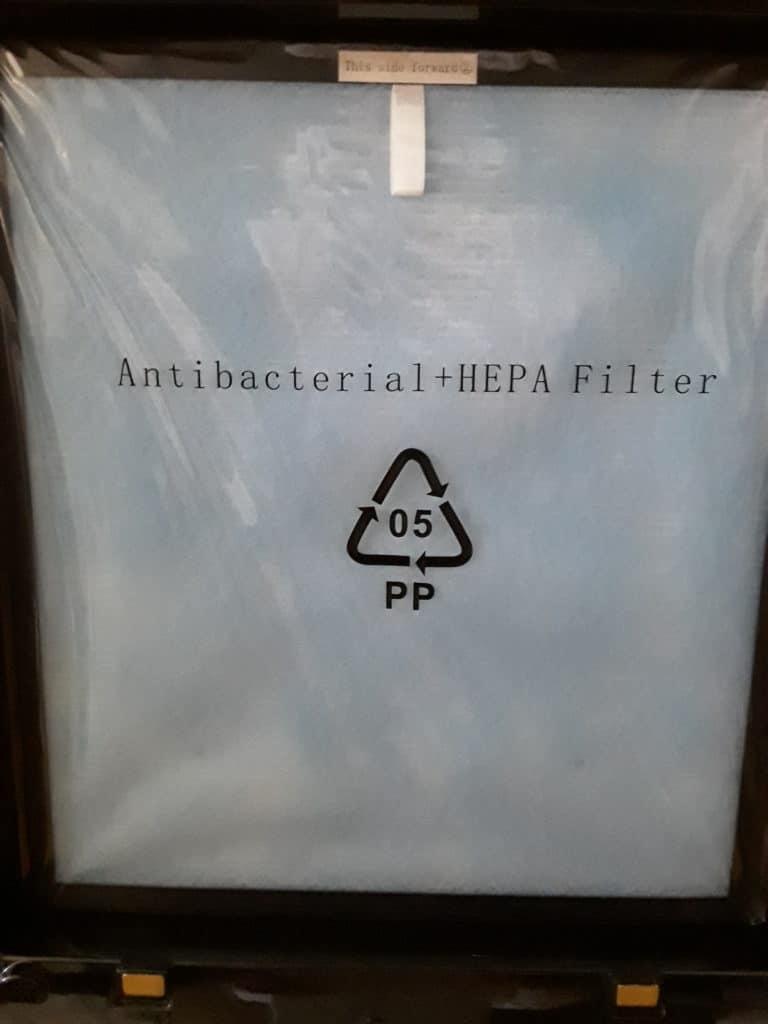 Filtre antibactérien