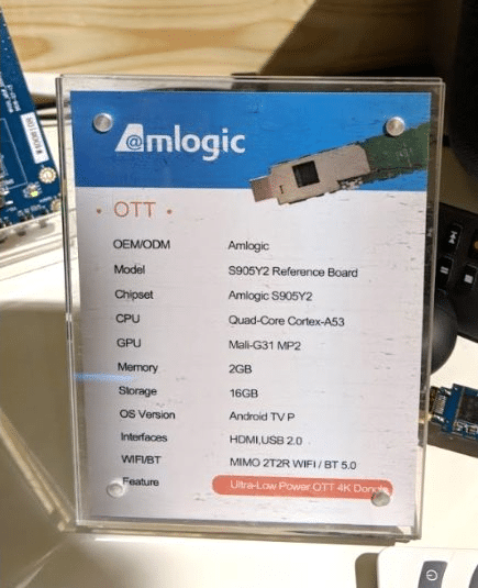 SoC Amlogic S905Y2 de la Mi TV Stick