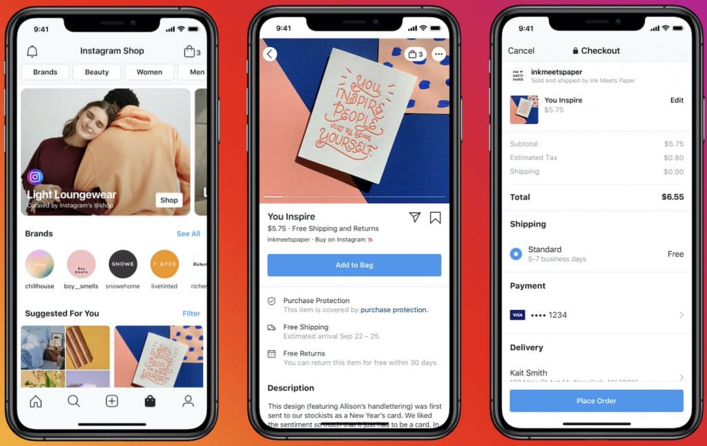 Instragram Shops : Facebook propose une solution de vente en ligne