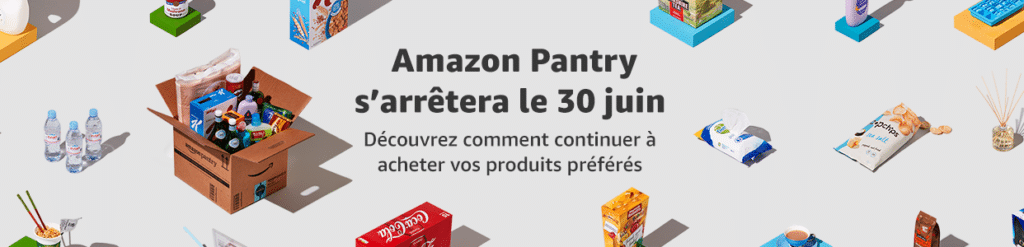 Amazon Pantry ferme ses portes