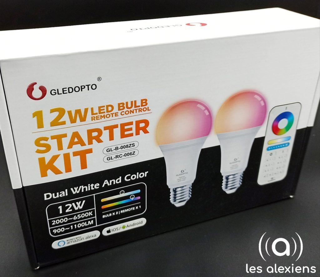 Starter Kit Gledopto ampoules connectées ZigBee E27