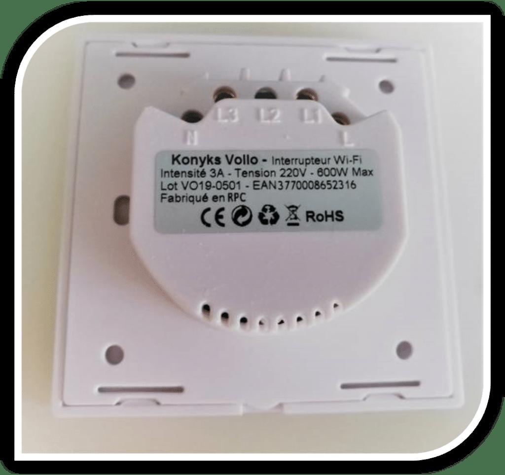 Volets connectés : interrupteur Konyks Vollo