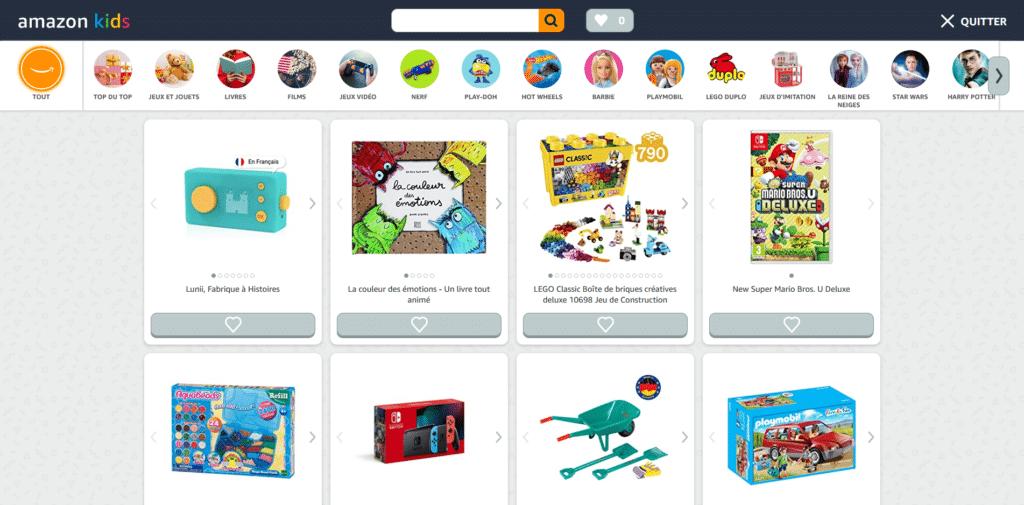 Lancement en France de la plateforme Amazon Kids