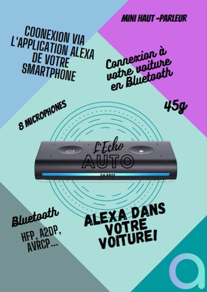 Alexa Echo Auto : les caractéristiques et spécifications techniques