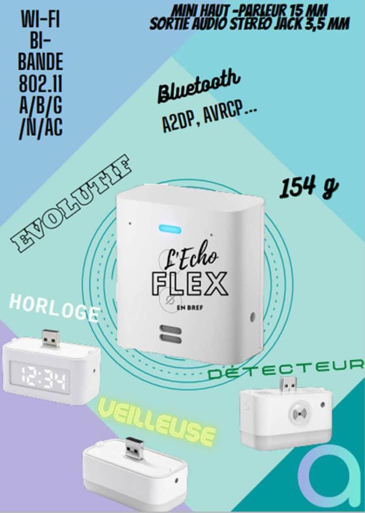 Amazon Echo Flex : les caractéristiques et spécifications techniques