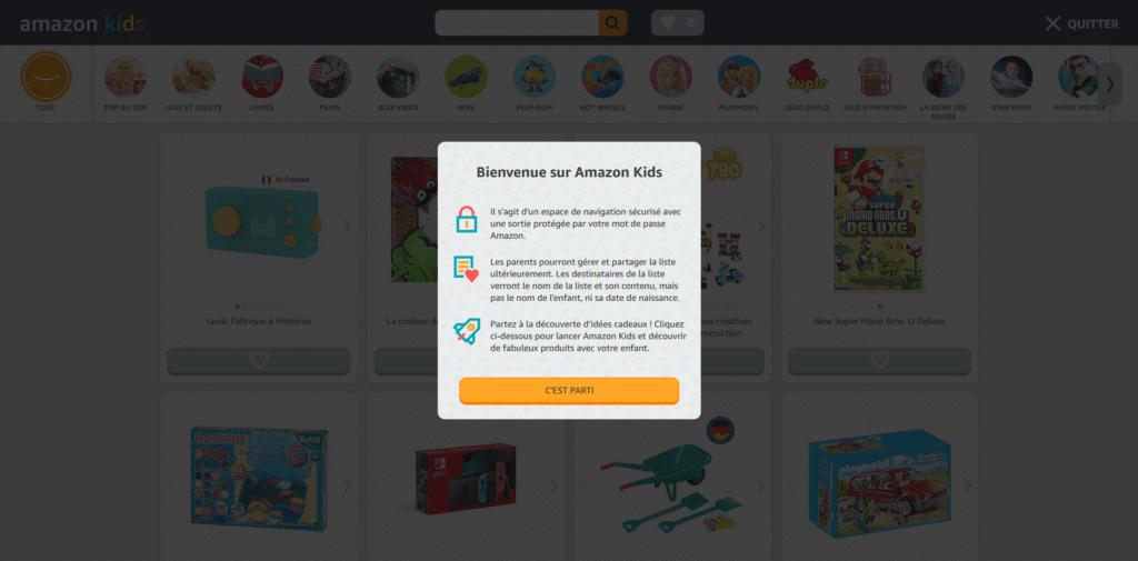Lancement du site e-commerce d'Amazon pour les enfants