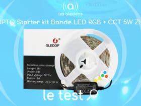 Notre avis sur le ruban LED TV connecté en ZigBee de Gledopto