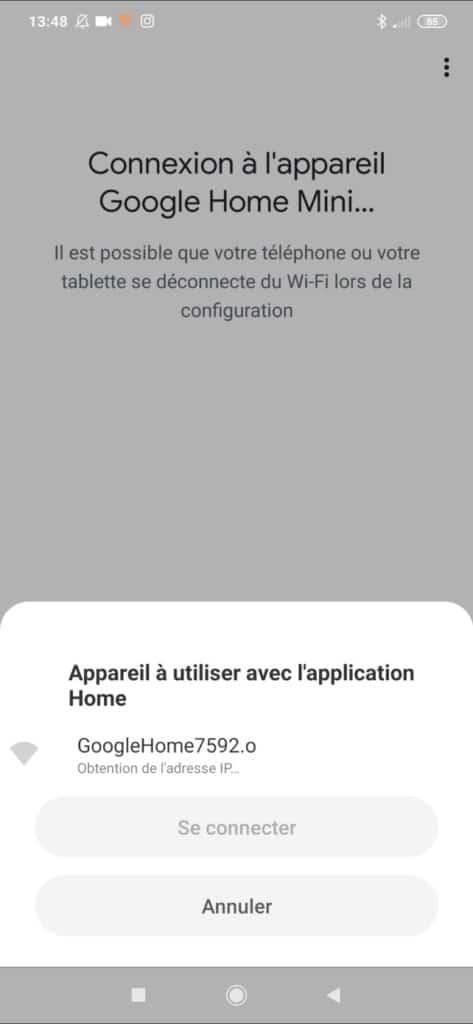 Installer un Google Home Mini