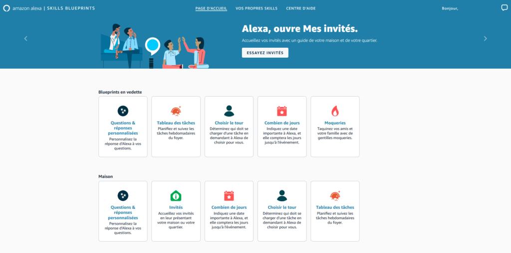 Alexa Blueprints : créer une skill Alexa Echo