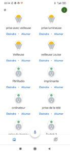 Gestion des appareils connectés Google Home