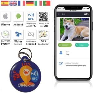puce d'identification GPS pour chien et chat avec QR GPS