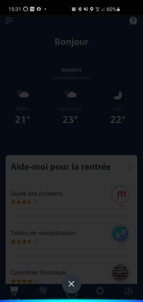 Alexa en mode mains libres sur smartphones Android et iPhone iOS