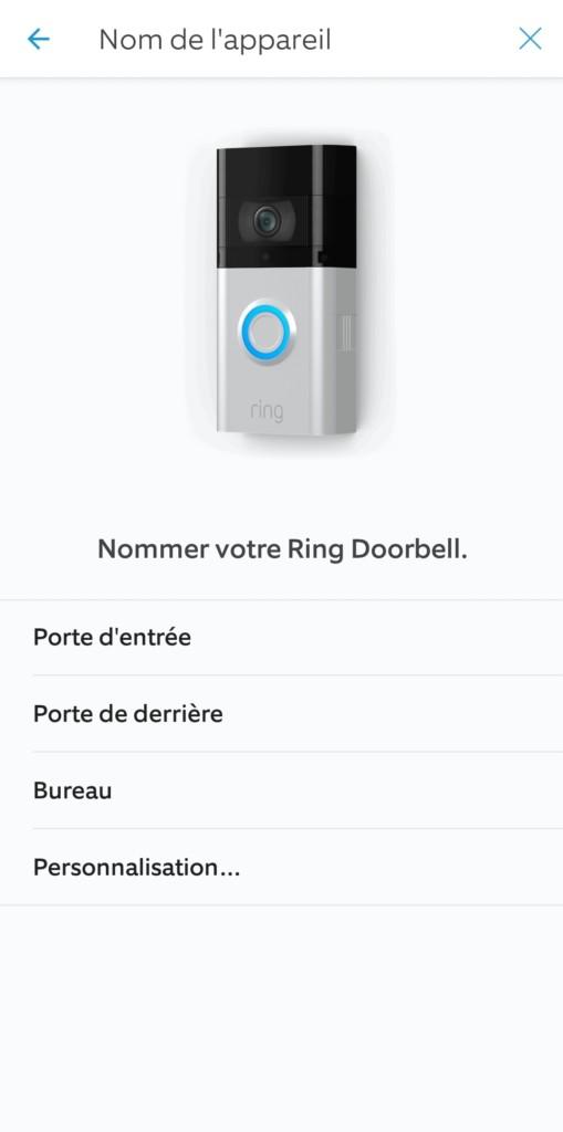 Nommez votre Ring Doorbell 3