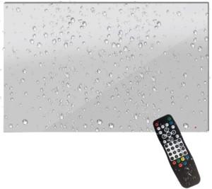Télévision miroir pour salle de bain étanche IP66 dimension : 49.6cm de large X 31.5cm de haut x 4cm de profondeur