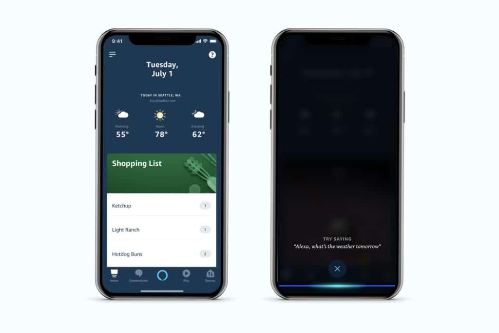 Alexa Echo en mains libres smartphone et téléphone