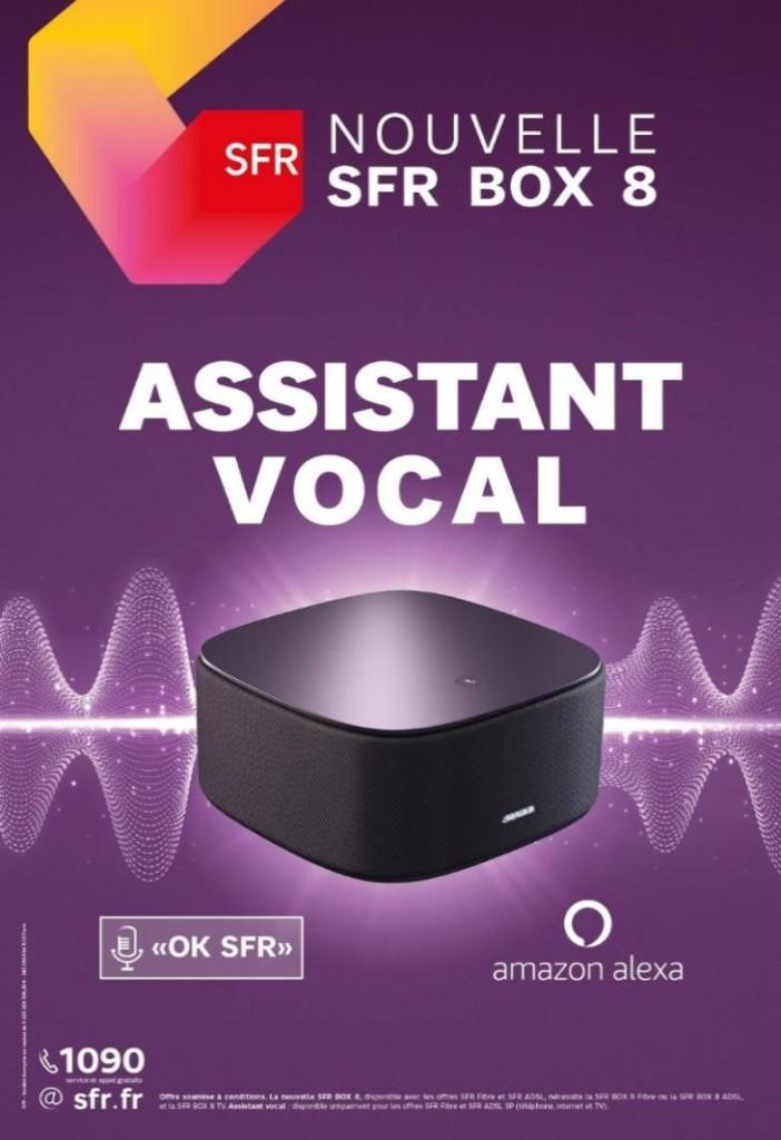 SFR annonce Amazon Alexa en assistant vocal sur SFR Box 8
