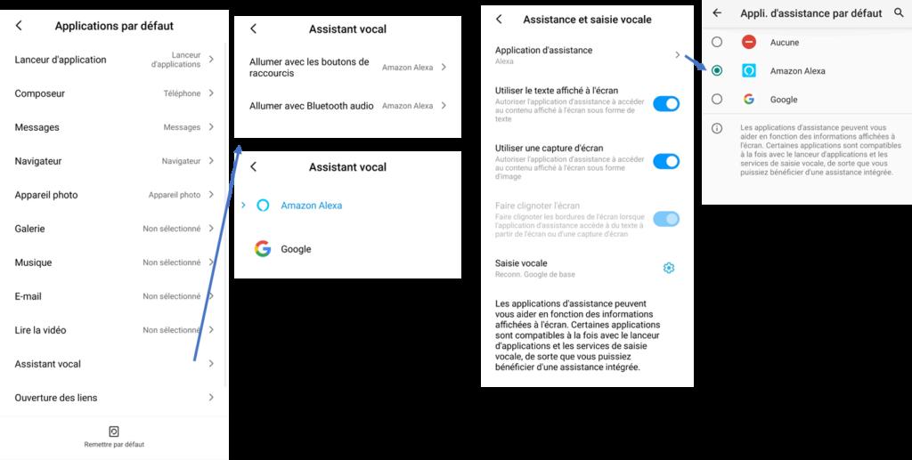 Alexa par défaut sur Xiaomi MIUI / Redmi Note
