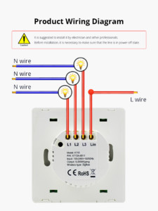 Schéma de montage interrupteur Tuya / Smart Life