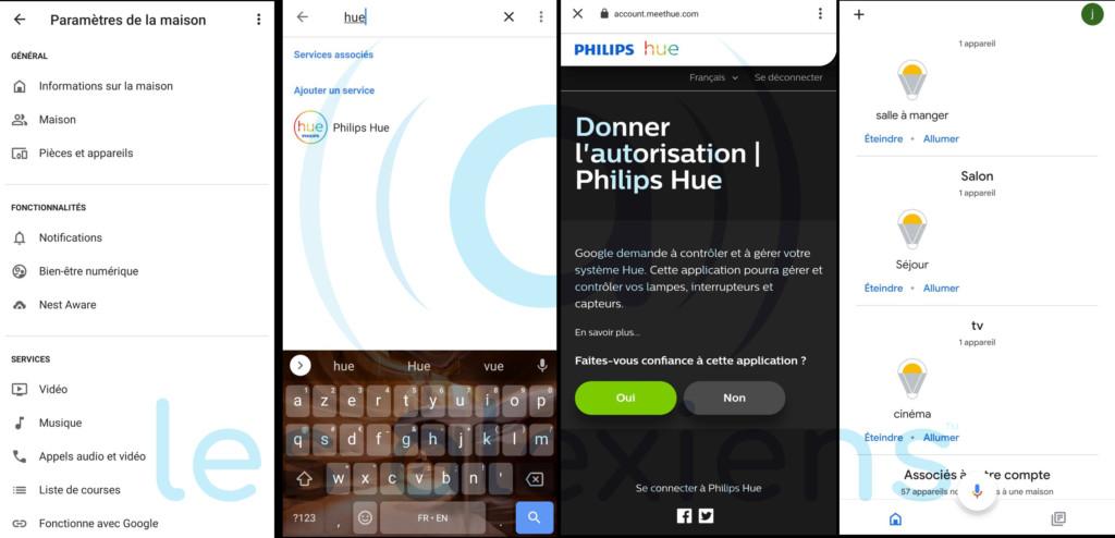 Philips Hue et Google Home Assistant
