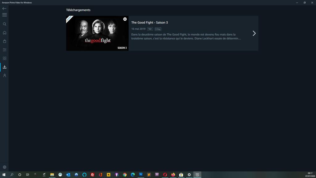 Télécharger un film ou une série Amazon Prime Video